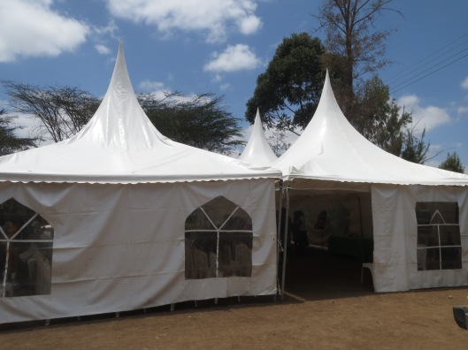 The tent in Ongata Rongai where the church meets.