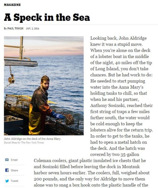 2014, Journalism, lost at sea, NYT